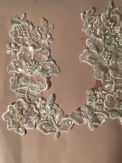 Simple Elegance sew on embroidery Pearl sequin lace for Sale in Denver,  CO