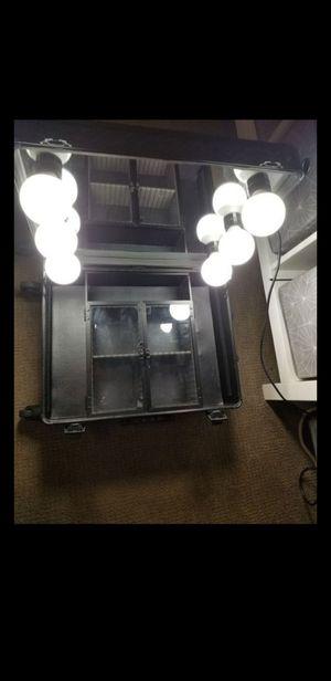 IMPRESSIONS VANITY SLAYCASE PRO VANITY TRAVEL TRAIN CASE IN BLACK STUDDED for Sale in Glendale, CA