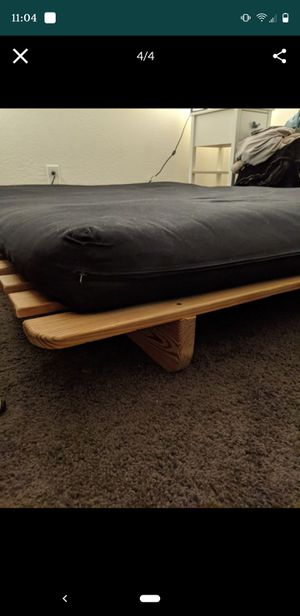 Futon with wooden frame !!PICK UP ONLY!! for Sale in Laveen Village, AZ