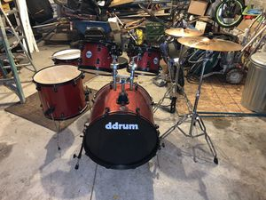 Ddrum d2 Player 5-Piece with Hardware and Cymbals Red Sparkle for Sale in Detroit, MI