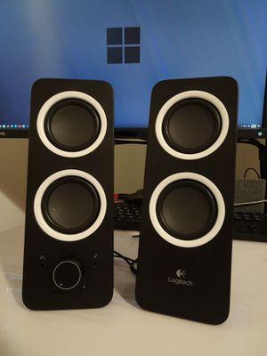 Logitech stylish elegant speakers great sound quality for Sale in Peoria, AZ