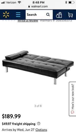 Black Futon Couch for Sale in Baltimore, MD