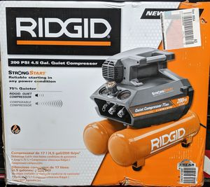 RIDGID 4.5 Gal. Portable Electric Quiet Air Compressor for Sale in Arlington, TX