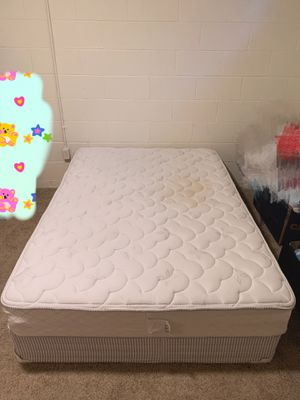 Mattress and box (full size) with free sofa for Sale in UPPER ARLNGTN, OH