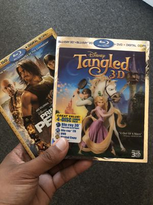 Disney 3D Blu Ray Tangled and Blu Ray if prince of Persia for Sale in Pawtucket, RI