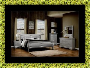 11pc Grey Marley bedroom set with mattress for Sale in Rockville, MD