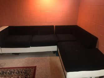 Black and white cream sofa for Sale in Columbus,  OH