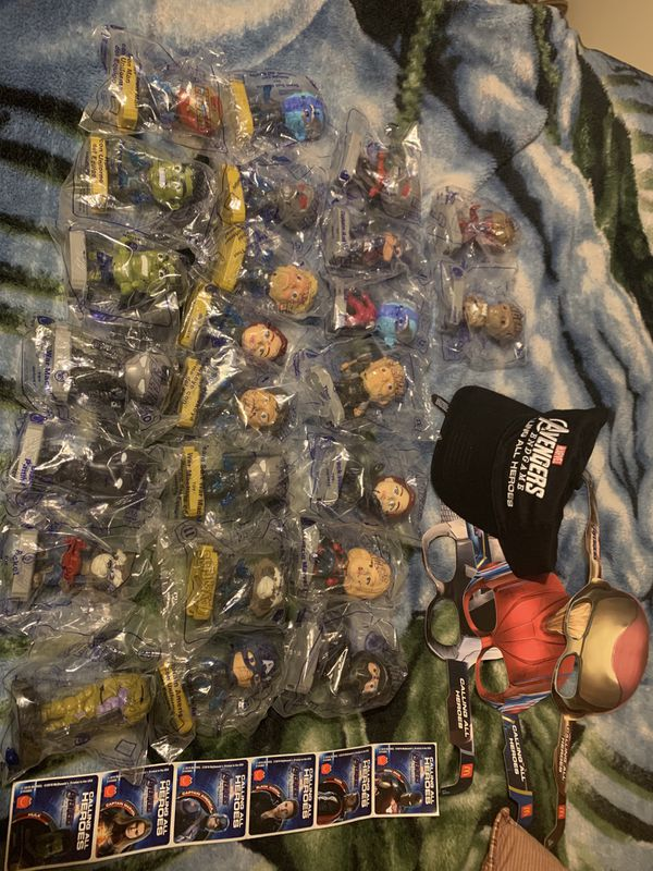 McDonald's 2019 avengers end game marvel toy collection full set of 24 condition brand new