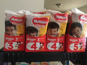 Huggies diapers and wipes for Sale in Dallas, TX