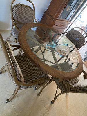 Glass table with 4 chairs for Sale in Stuart, FL