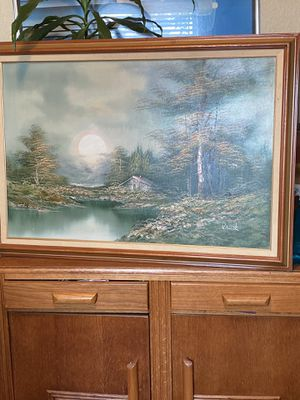 Beautiful Large Vintage Original Oil Painting on Canvas. Artist signed. Framed. for Sale in Tampa, FL