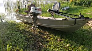 Polar craft aluminum boat 20hp Johnson outboard for Sale in Davenport, FL