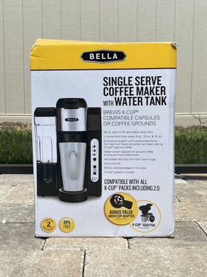 Bella Single-Serve Coffee Maker with Water Tank (New, never opened) for Sale in Kissimmee, FL