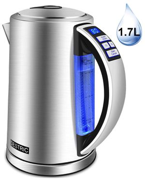 Electric Kettle Temperature Control, DESTRIC 1.7Liter Electric Tea Kettle with Keep Warm Function, 5 LED Color Change, Automatic Shut off & Boil-Dry for Sale in Peoria, AZ