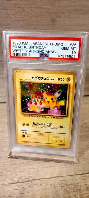 Pokemon Birthday Pikachu Card for Sale in Pomona, CA