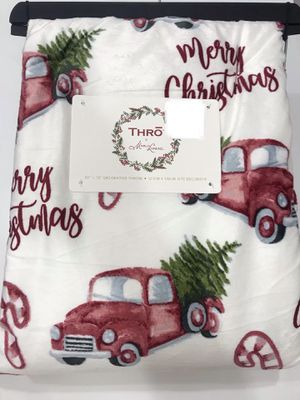 Thro by Marlo Lorenz Luxury CHRISTMAS Throw Soft Plush Blanket 50 x 70 NWT for Sale in Sunnyvale, CA