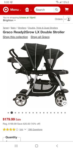 Graco Ready2Grow LX Double Stroller for Sale in Denver, CO