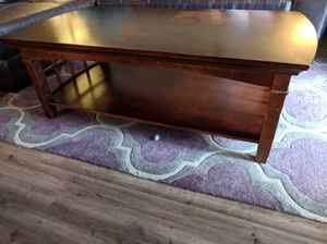 Brown wooden coffee table for Sale in Denver, CO