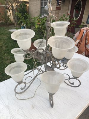 Flat silver main entrance chandler $45 obo for Sale in Palmview, TX