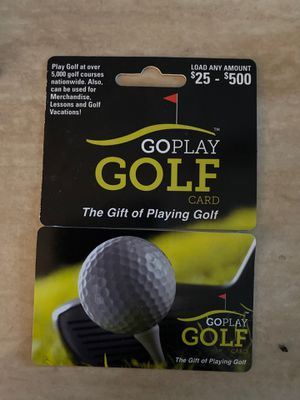 500 dollar golf card asking 350.00 for Sale in Columbus, OH
