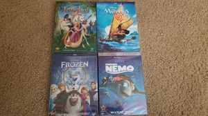 Moana + Tangled + Frozen + Finding Nemo DVDs for Sale in Tacoma, WA