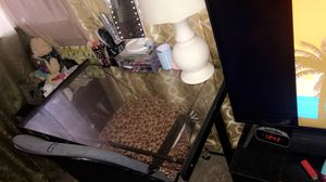 Selling my glass desk is well taken care of & you can take the chair for free for Sale in Fresno, CA