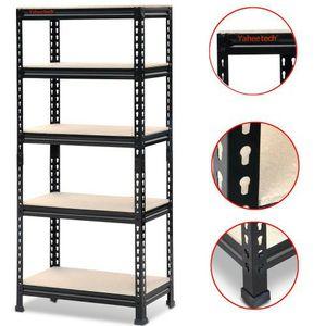 """Yaheetech Storage Rack 59.1""""H x 27""""W x 12""""D 5 Shelf Steel Shelving, Black for Sale in Riverside, CA"""