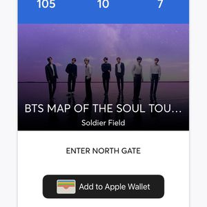 BTS MOTS Ticket for Sale in Chicago, IL