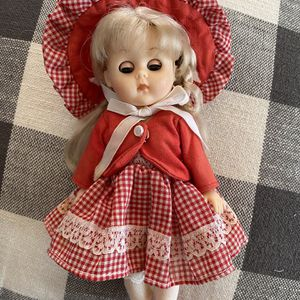 Vintage Doll Jenny 1984 Hong Kong Star Mark 8 inches Red Gingham for Sale in Beacon, NY