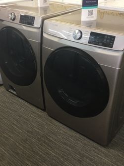 Samsung Set Washer And Dye King Size Capacity With Warranty No Credit Needed Just $39 Down Payment Cash Price $1,800 for Sale in Garland,  TX