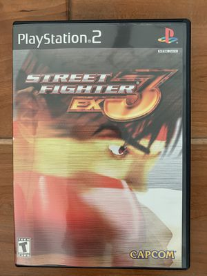 Street fighter ex3 PS2 game with manual for Sale in Sacramento, CA