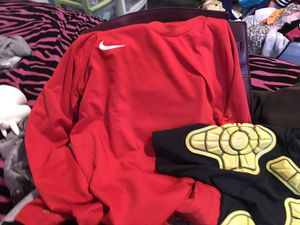 Boys soccer clothes size L G-form Long sleeve red Nike for Sale in San Diego, CA