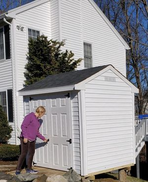 New 6' x 8' White Vinyl Shed with 5' Wide Fiberglass Door for Sale in Taunton, MA