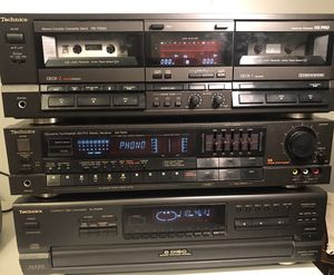 Technics system with Cassette RS-TR355, Stereo Receiver SA-R230, and Compac Disc SL-PD888 for Sale in Eno Valley, NC