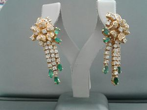 Earrings with Diamond and emeralds for Sale in Longmont, CO