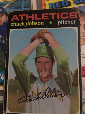 Baseball card 1971Chuck Dobson autographed for Sale in Norwalk, CA