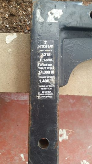 2 inch hitch bar for Sale in Wabash, IN