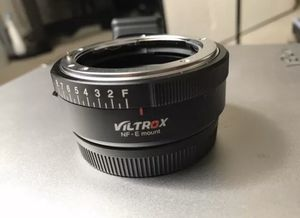 Viltrox nf-e mount Adapter for Nikon Lenses onto Sony Cameras for Sale in Lawrenceville, GA