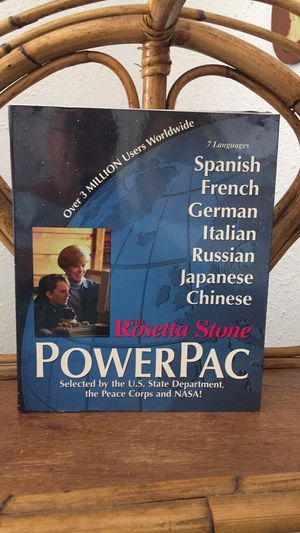 Rosetta Stone power pack seven languages for Sale in Kenneth City, FL