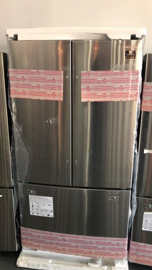 (55) New Samsung 23 cu. Ft. 3- Door French Stainless Steel Refrigerator 🔥 EzFinancing 39$ Down - No Credit Needed! for Sale in Houston, TX