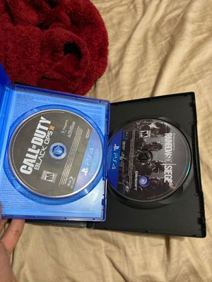 call of duty and rainbow slx siege ps4 for Sale in Houston, TX