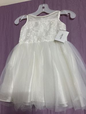 Ivory baby girl dress comes with head piece for Sale in Philadelphia, PA