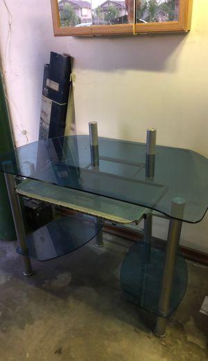 Glass desk for Sale in Fontana, CA