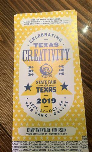 State Fair tickets for Sale in Dallas, TX