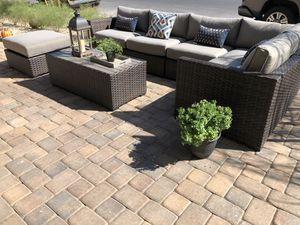 Soluna Outdoor Furniture Set 7-Piece Wicker Furniture Modular for Sale in North Las Vegas, NV