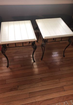 2 Chic Wrought Iron end tables for Sale in Midlothian, VA