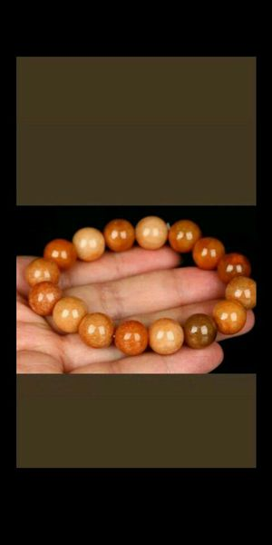 Certified Red Natural Grade A JADE Jadeite 13 mm Bead stretchy Bracelet for Sale in Richmond, CA