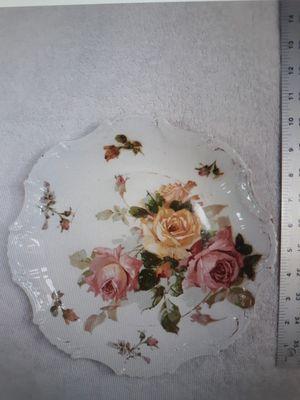 "Empire China Flower Designed Porcelain Plate 10 1/2"" diameter for Sale in Washington, IL"