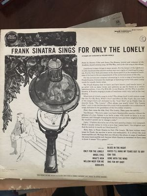 Frank Sinatra sings for only the lonely for Sale in Boynton Beach, FL