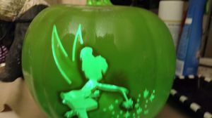 A Tinkerbell pumpkin with a light for Sale in Longwood, FL